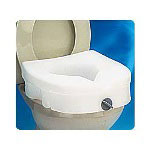 Carex E-Z Locked Raised Toilet Seat, Weight Capacity 300