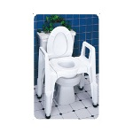 Carex Composite Three-In-One Commode, 300 lb. Capacity