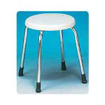 Carex Adjustable Round Shower Stool For Narrow Tubs, 2 per Case