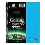 Roaring Spring Paper One-Subject Genesis Shades Notebook, 8 1/2 x 11, College Rule, Blue, 34 Sheets