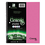 Roaring Spring Paper One-Subject Genesis Shades Notebook, 8 1/2 x 11, College Rule, Pink, 34 Sheets