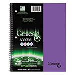 Roaring Spring Paper One-Subject Genesis Shades Notebook, 8 1/2 x 11, College Rule, Purple, 34 Sheets