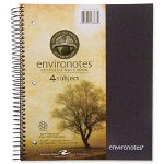 "Roaring Spring Paper Wirebound Notebook, 2-Sub, 11"" x 9"" 100 SH, Assorted"