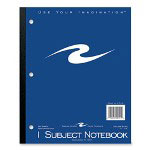 "Roaring Spring Paper Wireless Notebook, 3 HP, Perforated, 11""x9"", 1 Subject"