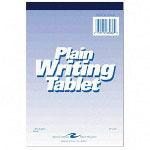 "Roaring Spring Paper Writing Tablet, 6""x9"", 100 Sheets, Plain, White"