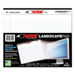 Roaring Spring Paper Landscape Format Writing Pad, College Ruled, 11 x 9-1/2, White, 40 Sheets/Pad