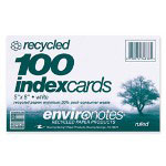 "Roaring Spring Paper Index Cards, Ruled, 5""x8"", 100/PK, White"