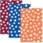 "Roaring Spring Paper Stylish Notebook, 8-1/2"" x 5-1/2"", 50 Sheets, 3/PK, Dots/Ast"