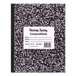 Roaring Spring Paper Marble Cover Composition Book, Wide Rule, 8-1/2 x 7, 36 Pages