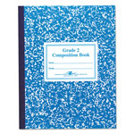 Roaring Spring Paper 77921 2nd Grade Ruled Composition Book, 50 Sheets, Red Marble Cover