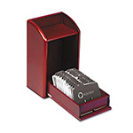 Rolodex Photo Business Card File, Mahogany