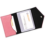 Rolodex Resilient Pink Personal Card Case, Soft Faux Leather/Snap Close, Holds 36 Cards
