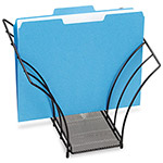 Rolodex Black Mesh Butterfly Sorter, 5 Veins