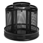 Rolodex Wire Mesh Spinning Desk Sorter, Black