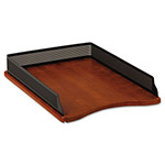 Rolodex Distinctions Self-Stacking Desk Tray, Black/Cherry