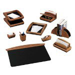 Rolodex Front Loading Single Desk Tray, Mahogany Finish, Legal