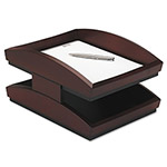 Rolodex Front Loading Double Desk Tray, Mahogany Finish, Legal