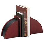 Rolodex Executive Woodline II Bookends, 10w x 4 1/2d x 6 1/8h, Mahogany