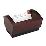 Rolodex Business Card Holder, Mahogany