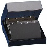 "Rolodex Business Card File, with Cover, Holds 2-1/4"" x 4"" Cards, 500 Cap, BK"
