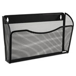 Rolodex Single Pocket Wire Mesh Wall File, Black, 14w x 3 3/8d x 8 1/2h