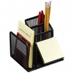 Rolodex Wire Mesh Desk Organizer, Black