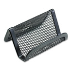 Rolodex Mesh Business Card Holder, Black