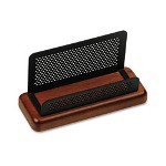 Rolodex Distinctions Business Card Holder, Capacity 50 2-1/4 x 4 Cards, Cherry/Black