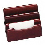 Rolodex Desktop Sorter with Drawer, Mahogany