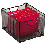 Rolodex Mesh Collapsible Crates, 15-1/2W x 10-3/4D x 13-1/4H, Black