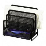 Rolodex Wire Mesh Mini Sorter with Drawer, Black, 3 3/4w x 6 5/8d x 7h