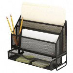 Rolodex Wire Mesh Large Sorter with Drawer, Black, 4w x 9 3/8d x 12 1/8h