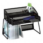 Rolodex Off Desk Mesh Organizer, Black, 12 1/8w x 5 1/2d x 8 5/8h
