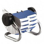 Rolodex Open Rotary Card File, 500 2 1/4 x 4 Cards, 24 Guides, Chrome Finish