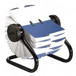 Rolodex Open Rotary Card File, 500 3 x 5 Cards, 24 Guides, Black Finish