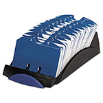 Rolodex 500 Card Open Card File, 500 2 1/4 x 4 Cards, 24 A Z Guides, Black Plastic