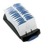 Rolodex 500 Card Open Card File, 500 3 x 5 Cards, 24 A Z Guides, Black Plastic
