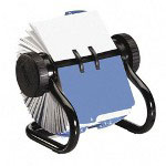 Rolodex Business Card Revolving File, 400 Cards, 24 A Z Tabs, Black