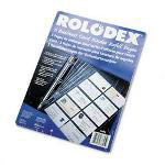 Rolodex Business Card Binder Refill Pages, 8 1/2 x 11, 20 Cards/Page, 5 Pages/Pack