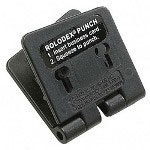 Rolodex Business Card Punch for 2 1/4 x 4 Card Files, Plastic, Black
