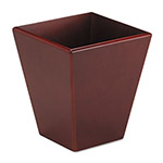 Rolodex Square Wood Desk Wastebasket, Mahogany