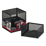 Rolodex Mesh Organization Cube, Two Drawer Cube, Black