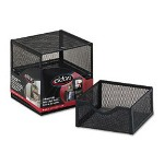 Rolodex Organization 2-Drawer Cube, Wire Mesh, Storage, 6W x 6D x 6H, Black