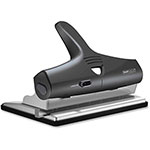 "Rapesco Hole Punch, Adjustable, 4-1/2"" x 8-9/10"" x 4-1/2"", Black/Silver"