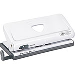 "Rapesco 6-Hole Punch, 10- Sheet, 4-3/4"" x 8-1/2"" x 1-3/10"", Black"
