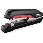 Rapid Supreme S17 SuperFlatClinch Full Strip Stapler, 30-Sheet Capacity, Black/Red