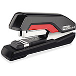 Rapid Supreme S50 SuperFlatClinch Half Strip Stapler, 50-Sheet Capacity, Black/Red