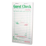 Royal   Guest Check Book, 3 1/2 x 6 7/10, Green/White, 50/Book, 50 Books/Carton