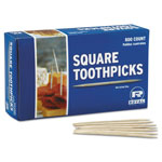 "Royal   Square Wood Toothpicks, 2 3/4"", Natural"