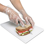 Royal   Polyethylene Gloves, Powder-Free, Large, Clear, 10000/Carton